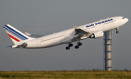 Actual Air France Airbus 330-200 of vanished Flight AF 447 (identified by registration number)