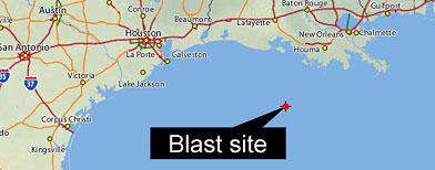 'Vermillion 398' Oil Rig Explodes in Gulf of Mexico